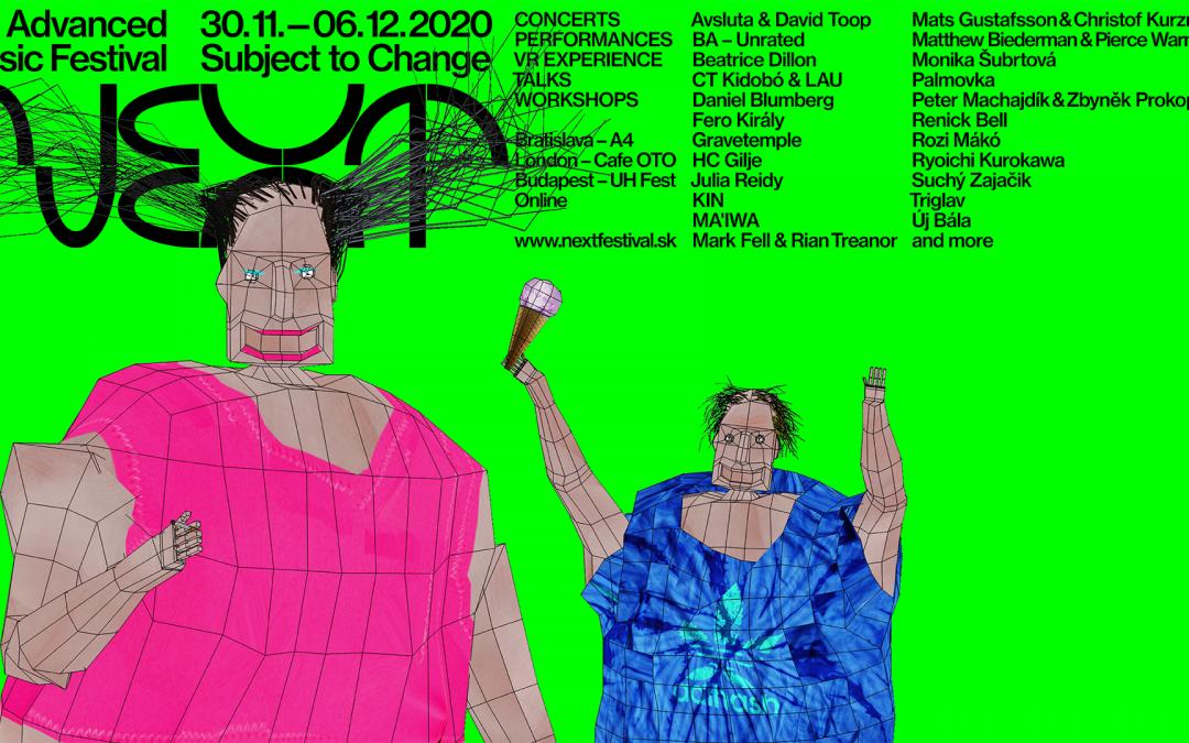 Hudobný festival NEXT 2020 bude virtuálnym 3D zážitkom s vysielaním z Bratislavy, Londýna aj Budapešti